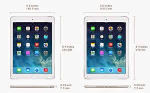 iPad air picture and specs