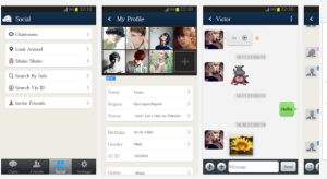 Palmchat screenshots
