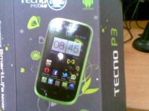 Tecno p3 inside box