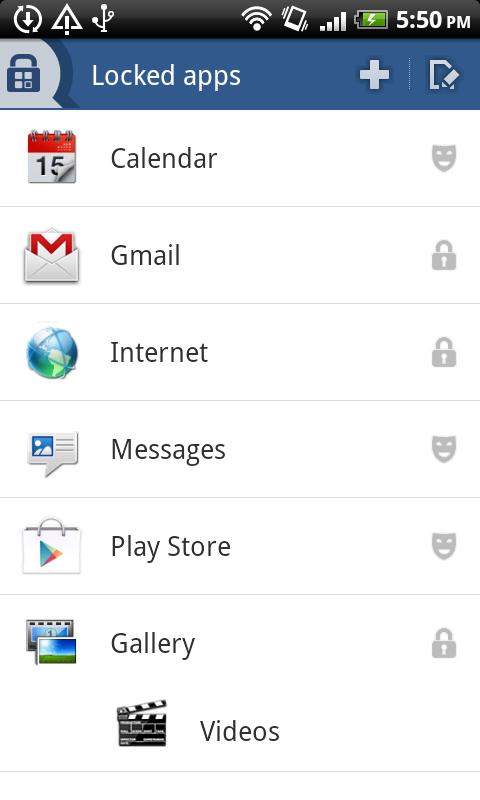 app lock of Vault