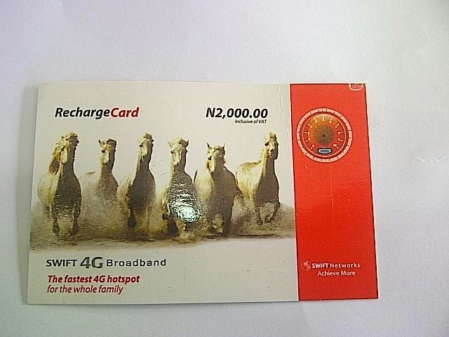 swift recharge card